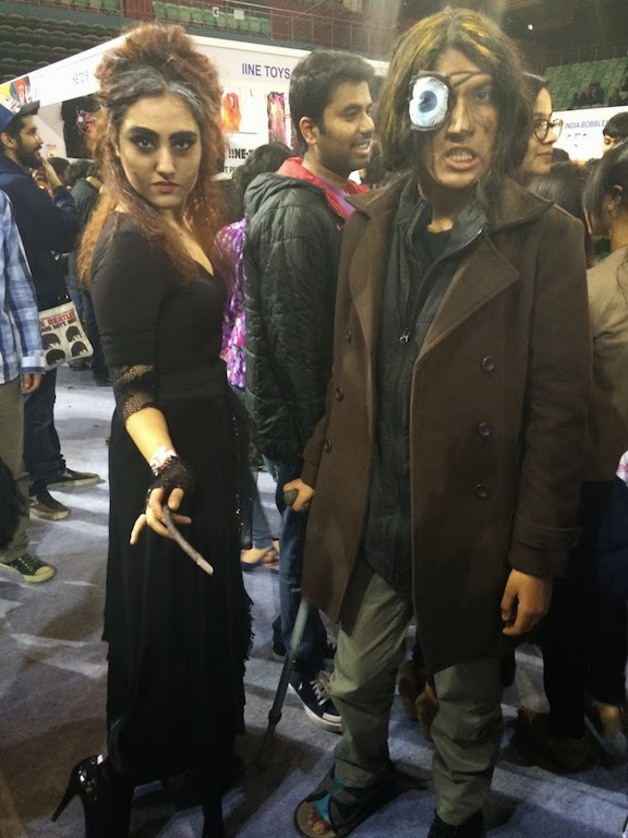 Bellatrix and Moody Cosplay Delhi Comicon