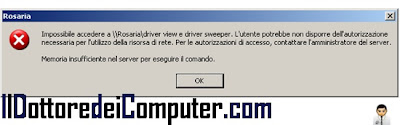 memoria insufficiente server