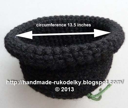 Hand Made Rukodelky Crocheted Hat With Rolled Up Brim For