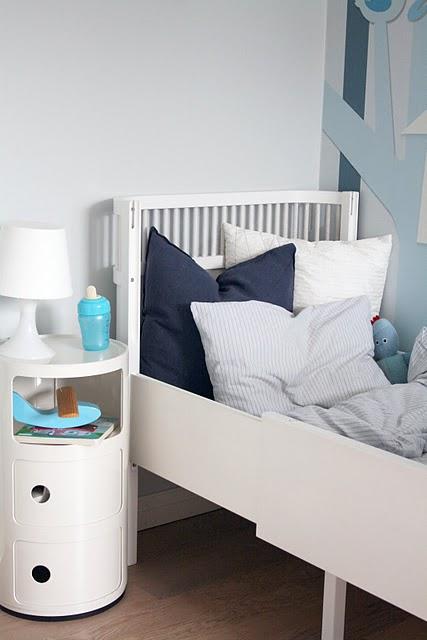Baby deco un dormitorio n rdico en tonos azules for Dormitorio infantil nordico