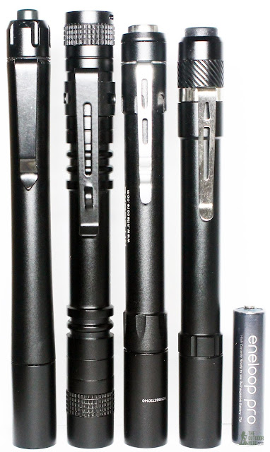 Thrunite Ti4 2xAAA Flashlight / Penlight With Hugsby Mini, Nitecore MT06, Thorfire PF04