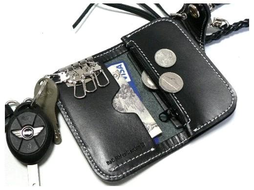 wallets biker leather: