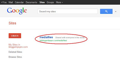 Media files for Google Sites