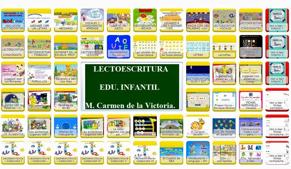 LECTOESCRITURA. EDU. INFANTIL
