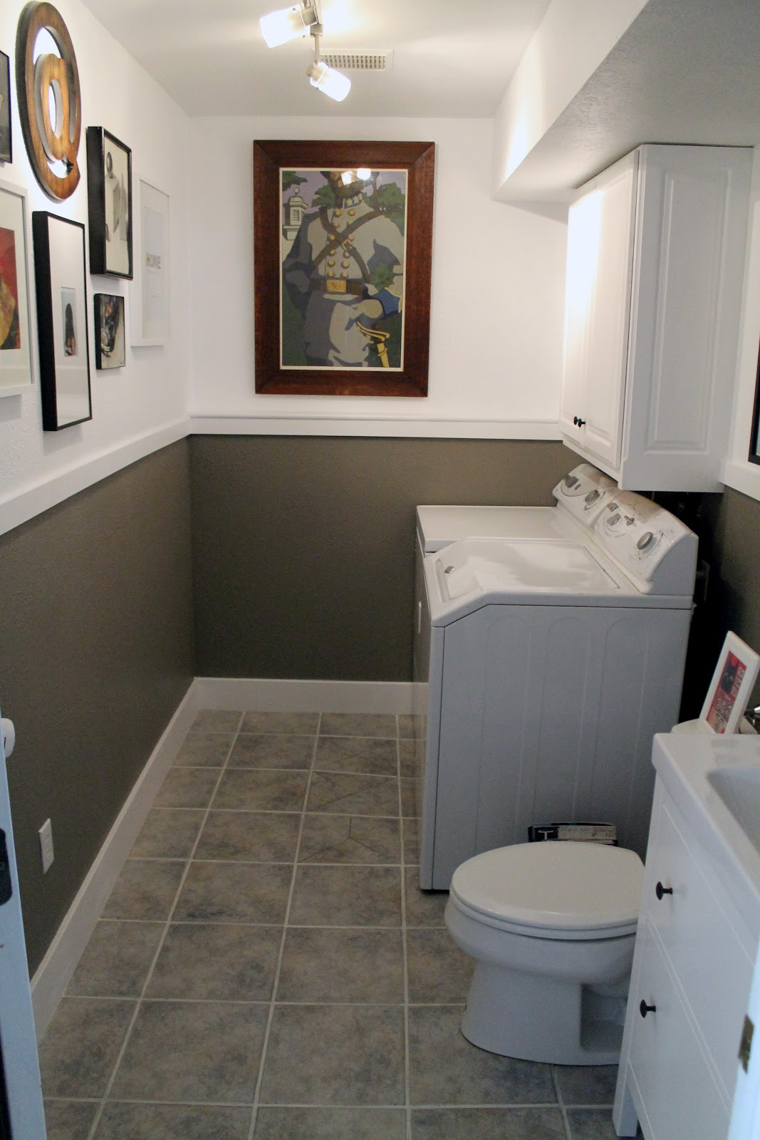 Laundry room half bath before and afters chris loves julia - Small half bathroom tile ideas ...