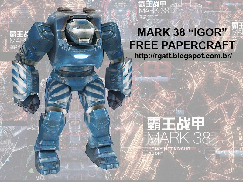 Iron Man 3 Mark 38 Igor Armor Papercraft
