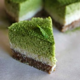 Picture of banana mint matcha cake
