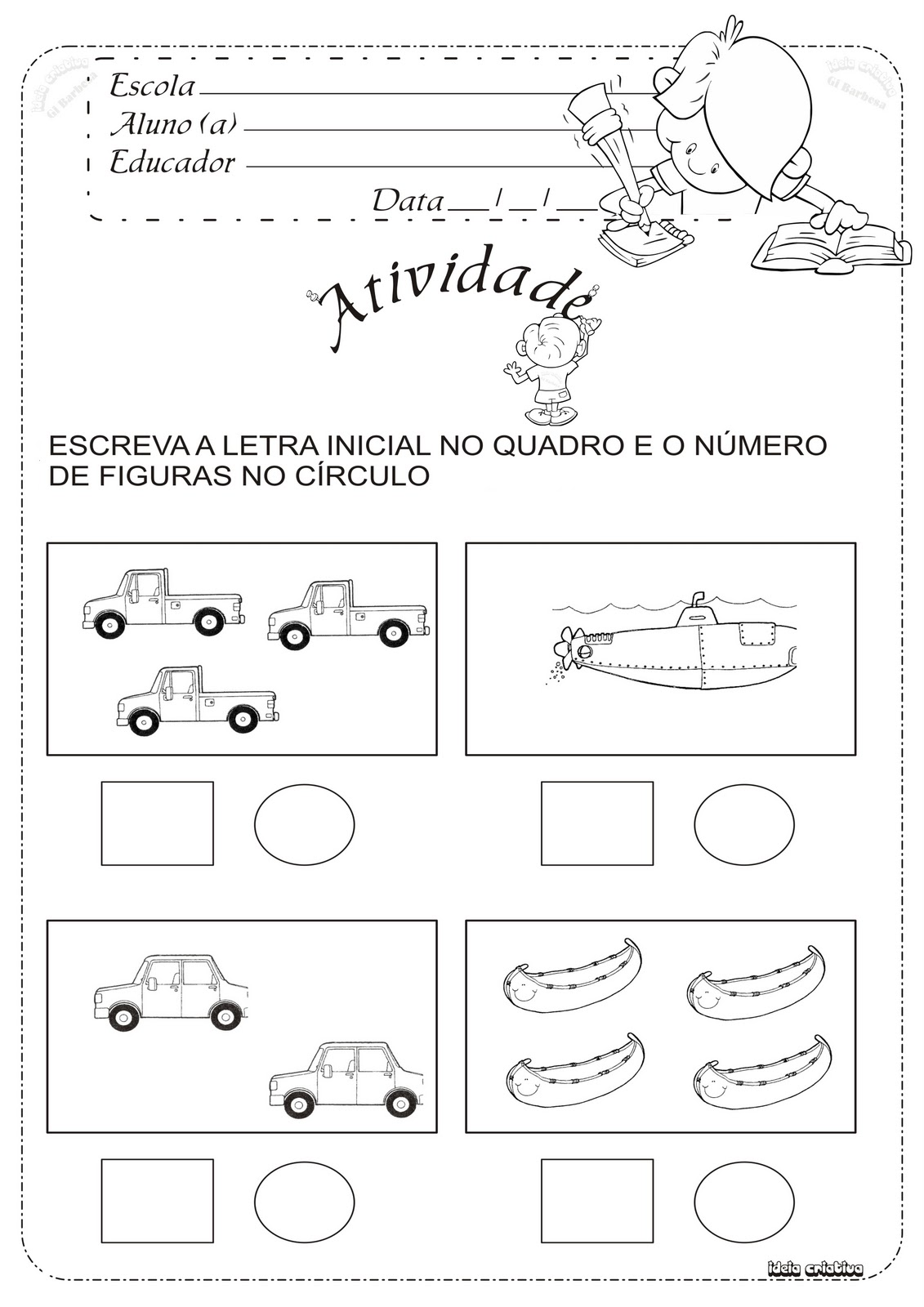 ATIVIDADES DE MATEMÁTICA - NUMERAIS, CONJUNTOS E QUANTIDADES