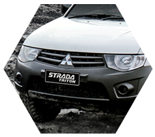 Front Grill of strada triton HDX Type.