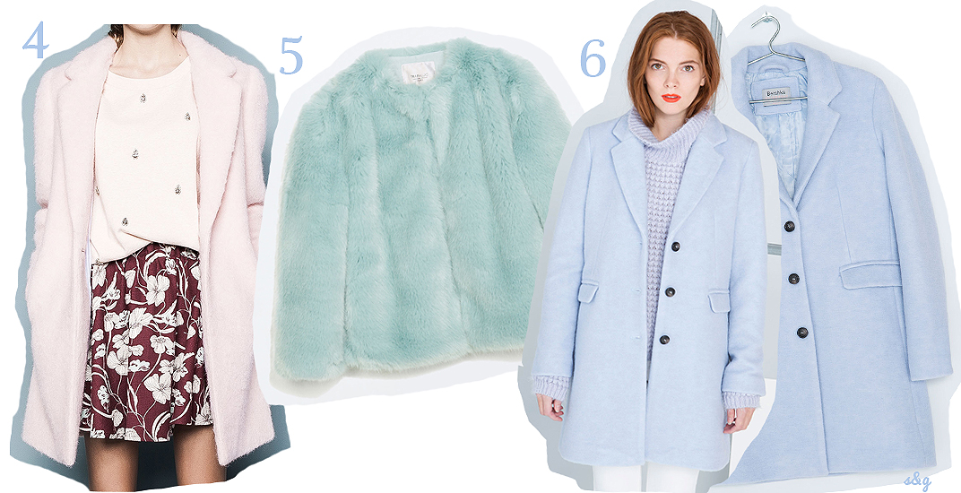 Bershka abrigo azul