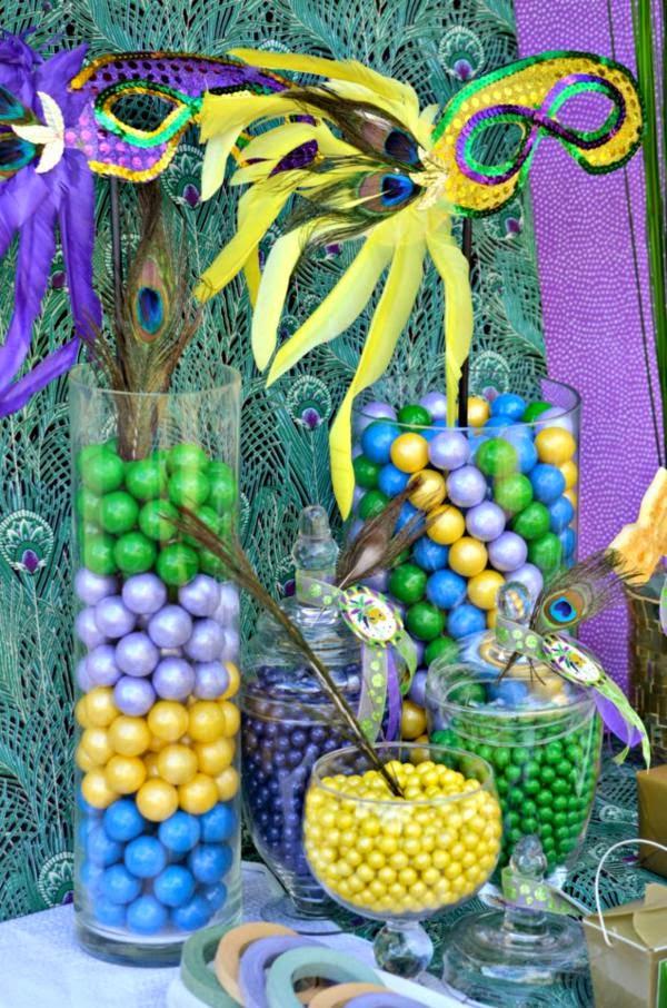 Decoración, Centro de Mesa, Carnavales