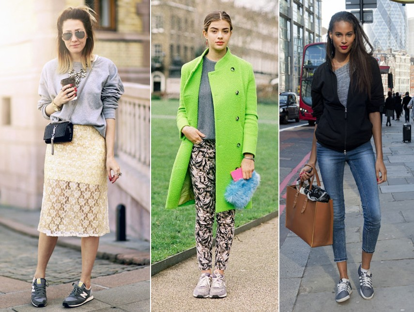 different ways to wear sneakers trainers outfits