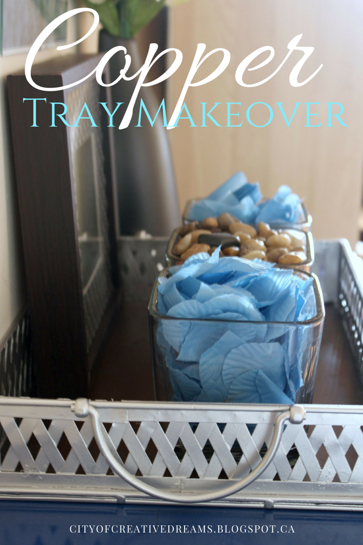 copper tray makeover