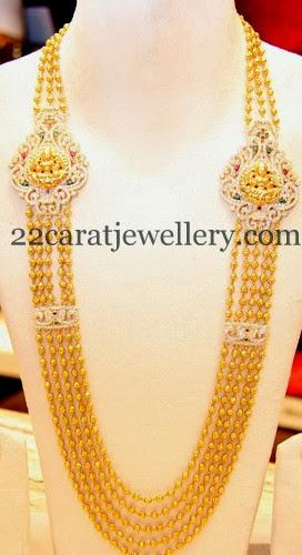diamond lakshmi motifs chandra haram jewellery designs
