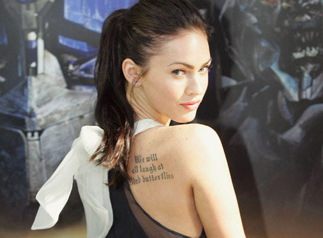 megan fox tattoo on ribs