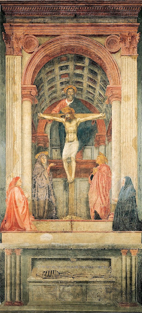 Masaccio's 'The Trinity.' This photo only: WikiMedia.org.