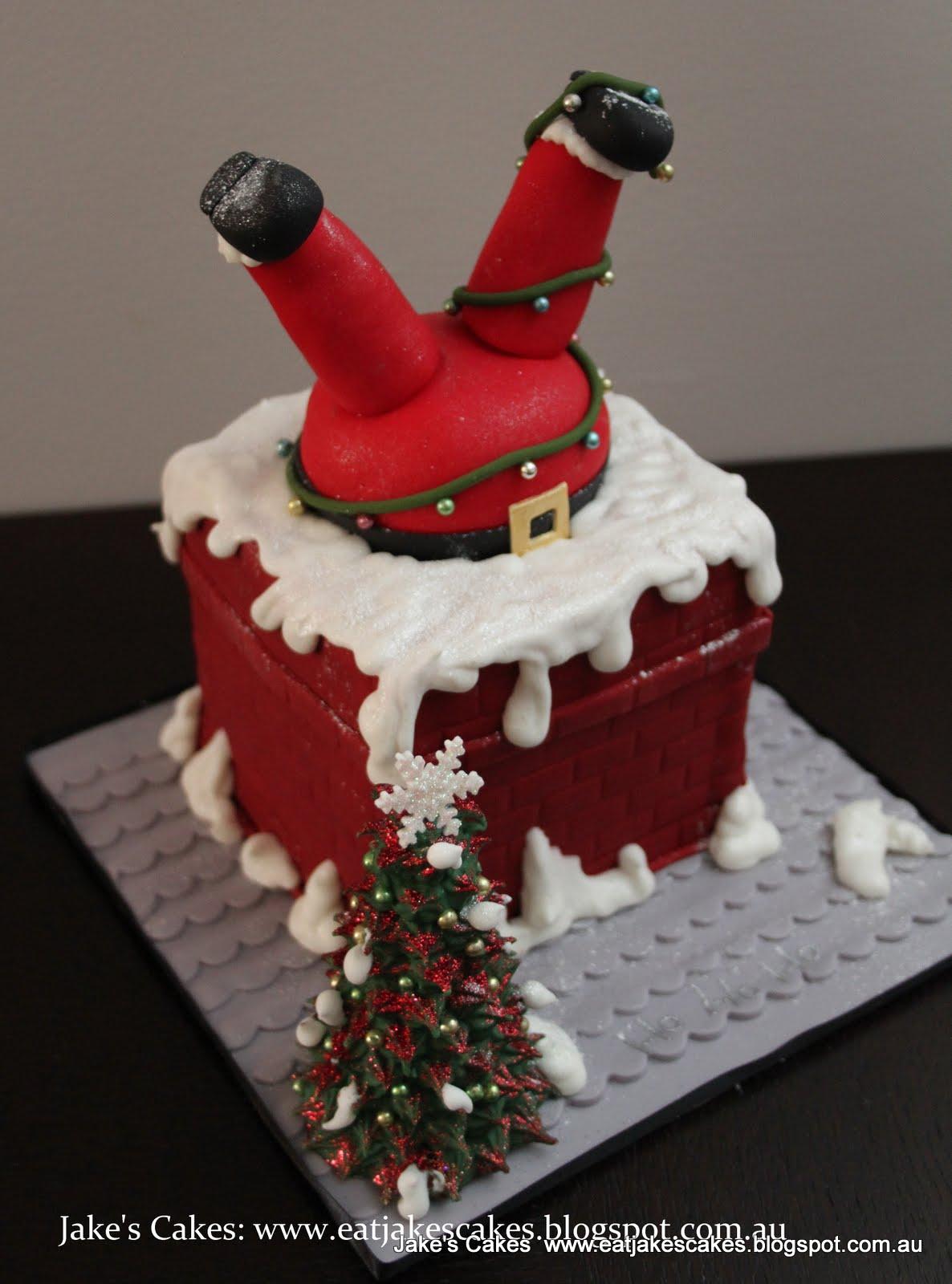 Santa Stuck In Chimney Cake