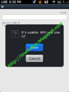 5.หาก ID ที่ระบุสามารใช้งานได้จะขึ้นว่า It's usable. will you use it? คุณก็กด Save เพื่อใช้งาน