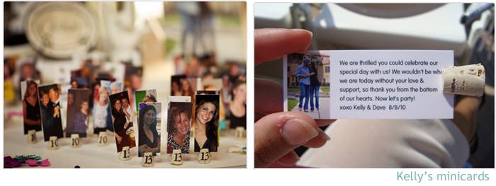 organizar por mesas a los invitados a una comida con unas tarjetas con sus fotos es divertido as lo hizo kelly with moos para boda