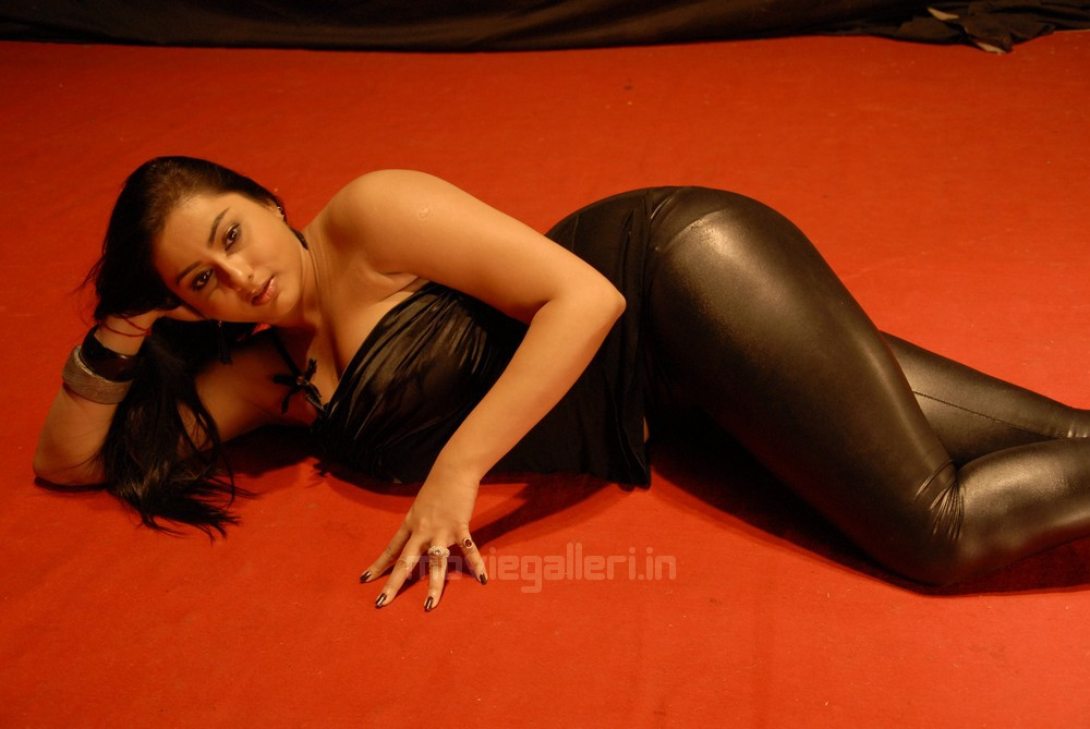 Namitha Latest Hot Pictures in Black Dress