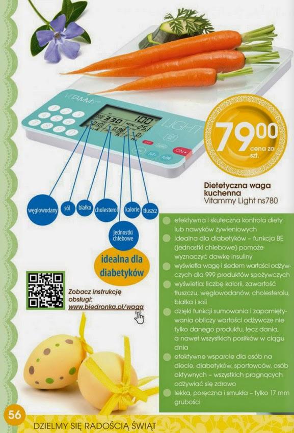 Dietetyczna waga kuchenna Vitammy Light ns 780 z Biedronki ulotka