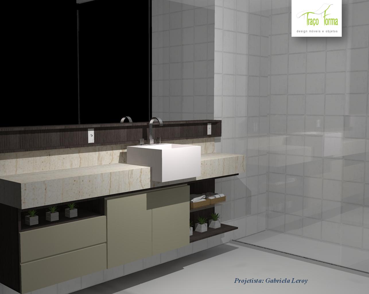 Gabriela Leroy Designer de Interiores: Projetos (Armario Banheiro). #506277 1286 1025