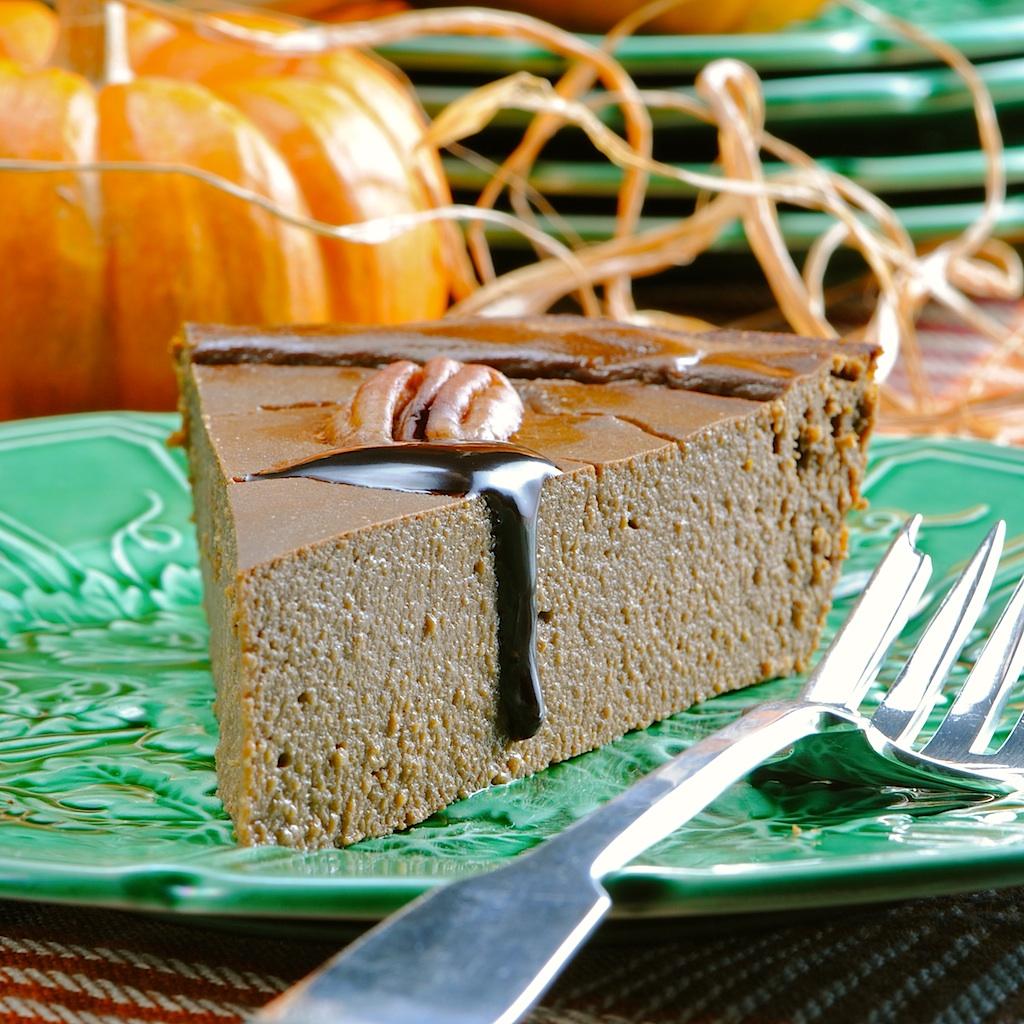 JULES FOOD...: Chocolate Pumpkin Pie...Gluten and Guilt Free