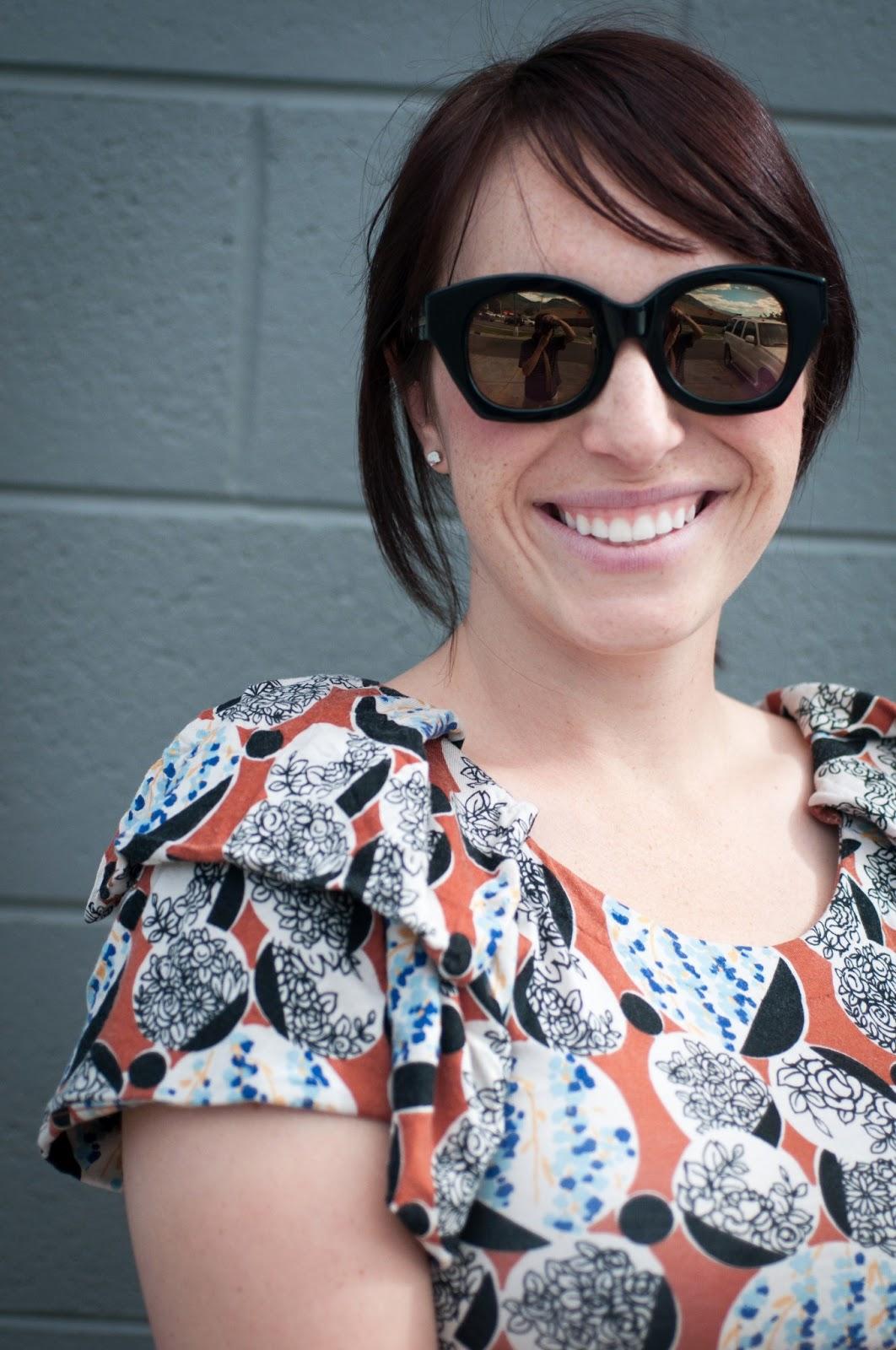 fashion blog, style blog, anthropologie, ootd, karen walker, karen walker sunglasses, deletta, karen walker soul club
