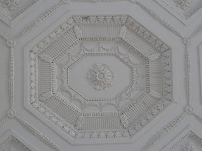 Ceiling detail at Croome mansion