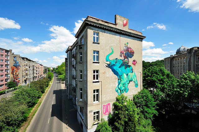Street Art By ETAM CRU in Lodz, Poland