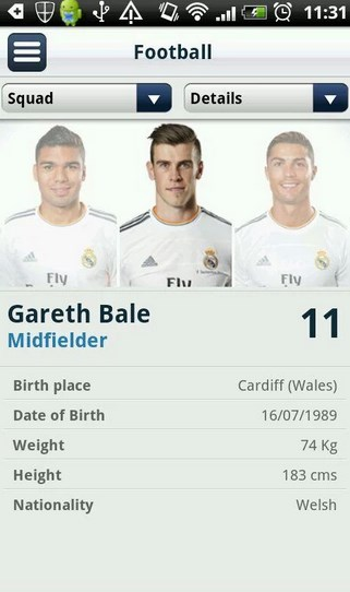 Screenshot Real Madrid App For Android