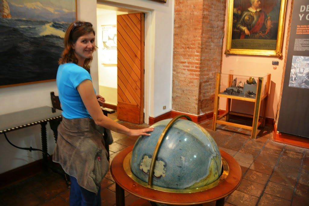 National History Museum Santiago globe