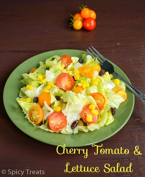Cherry Tomato Lettuce Salad / Cherry Tomato Salad With Simple Vinaigrette Dressing !