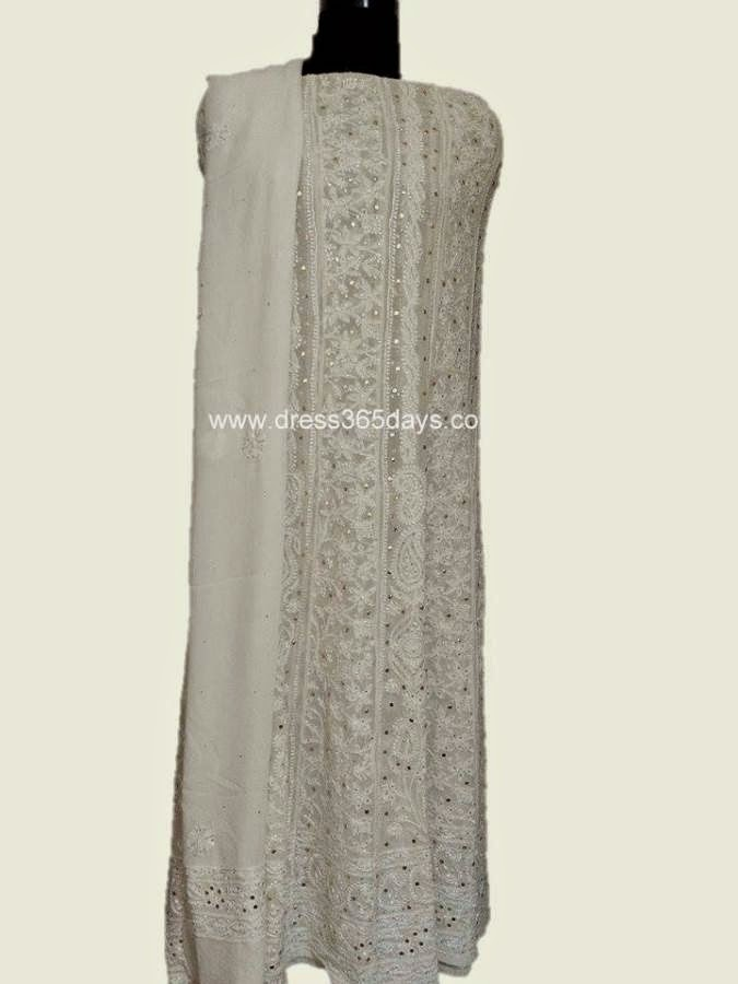 Chikankari Anarkali in Dress365days