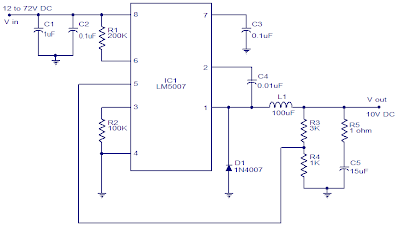 10V Switching Regulator based on LM5007