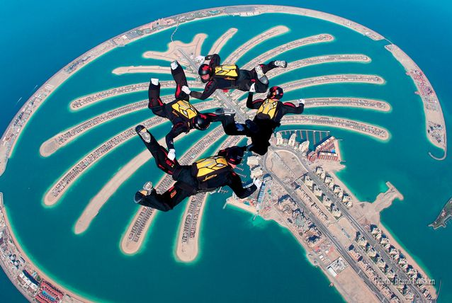 Hollywood and Fashion: Skydiving in Dubai