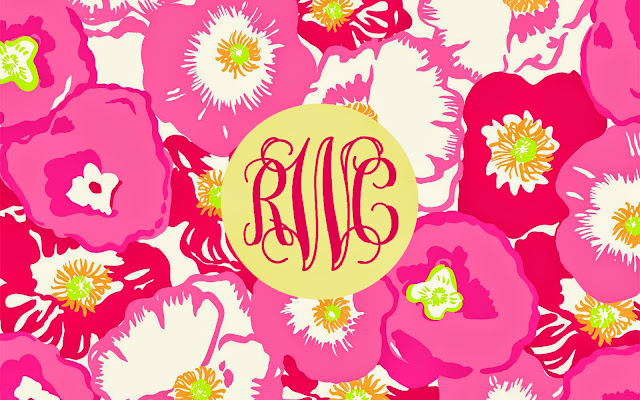 sunny rebecca diy monogrammed desktop background