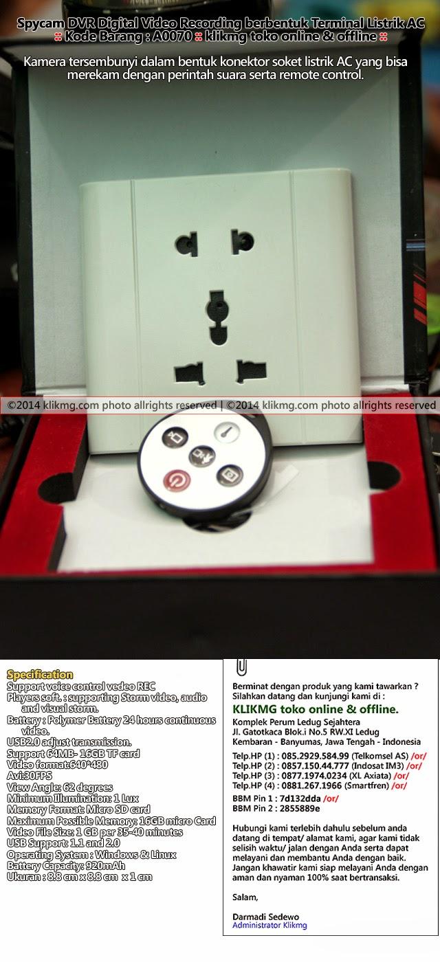 Spycam DVR Digital Video Recording berbentuk Terminal Listrik AC - Kode Barang : A0070 | klikmg toko online & Offline