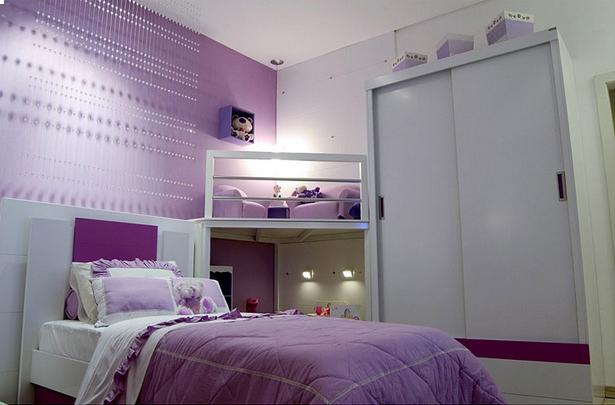 Chambre A Coucher Moderne Pour Fille : Chambre fille couleur lilas