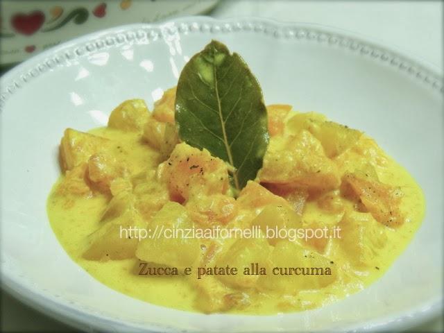 zucca e patate alla curcuma