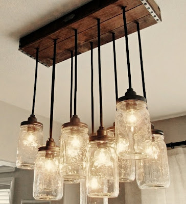 mason jar lights, diy lights