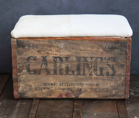Vintage Crate Ottoman Footstool by The Tattered Hanky via http://www.prodigalpieces.com