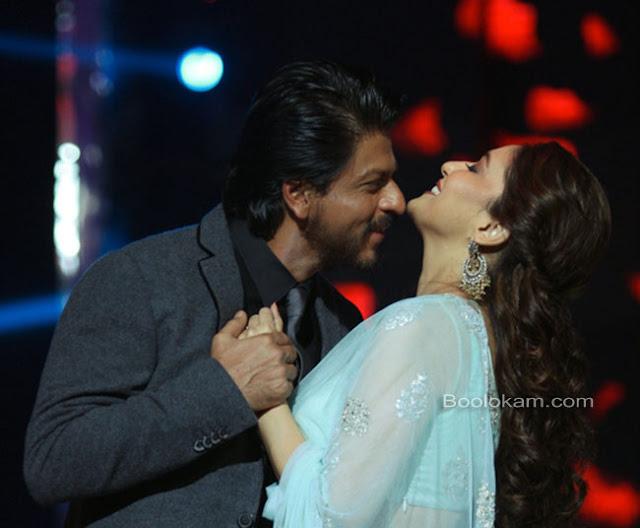 sharukh kissing madhuri