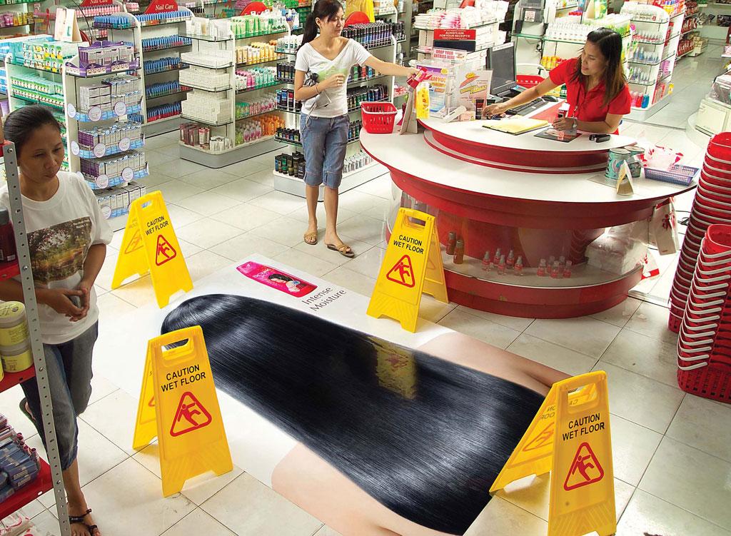 De toda forma marketing de guerrilha criatividade e for Unconventional flooring ideas