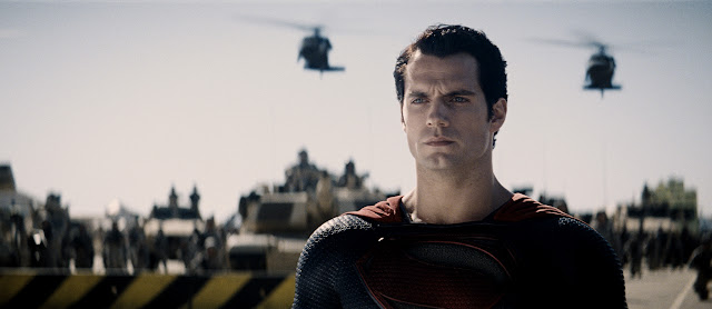 Man of Steel Superman and military stand-off