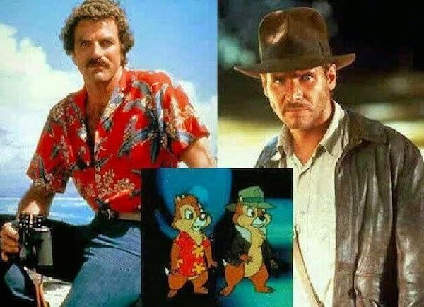 Tom Selleck y Harrison Ford Chip y Chop
