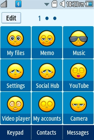 Other Cute, Yellow Smiley Samsung Corby 2 Theme 2 Menu