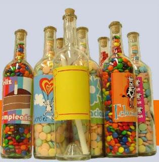 Mantas decoradas y regalos personalizados wish febrero 2011 - Botellas de vidrio para regalo ...