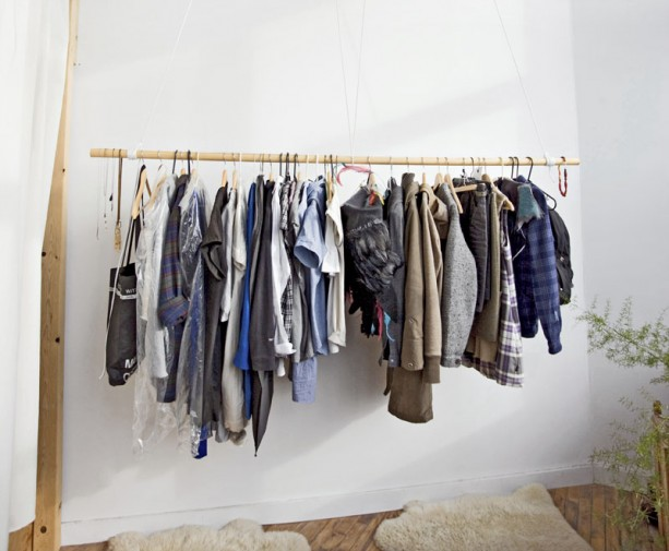 Ideas diferentes para colgar tu ropa inspiration No closet hanging solutions