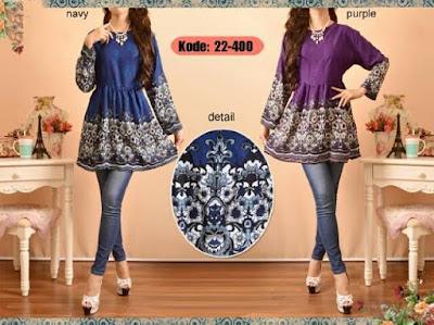 Atasan Peplum Clarisa Batik Mini Dress - 10482
